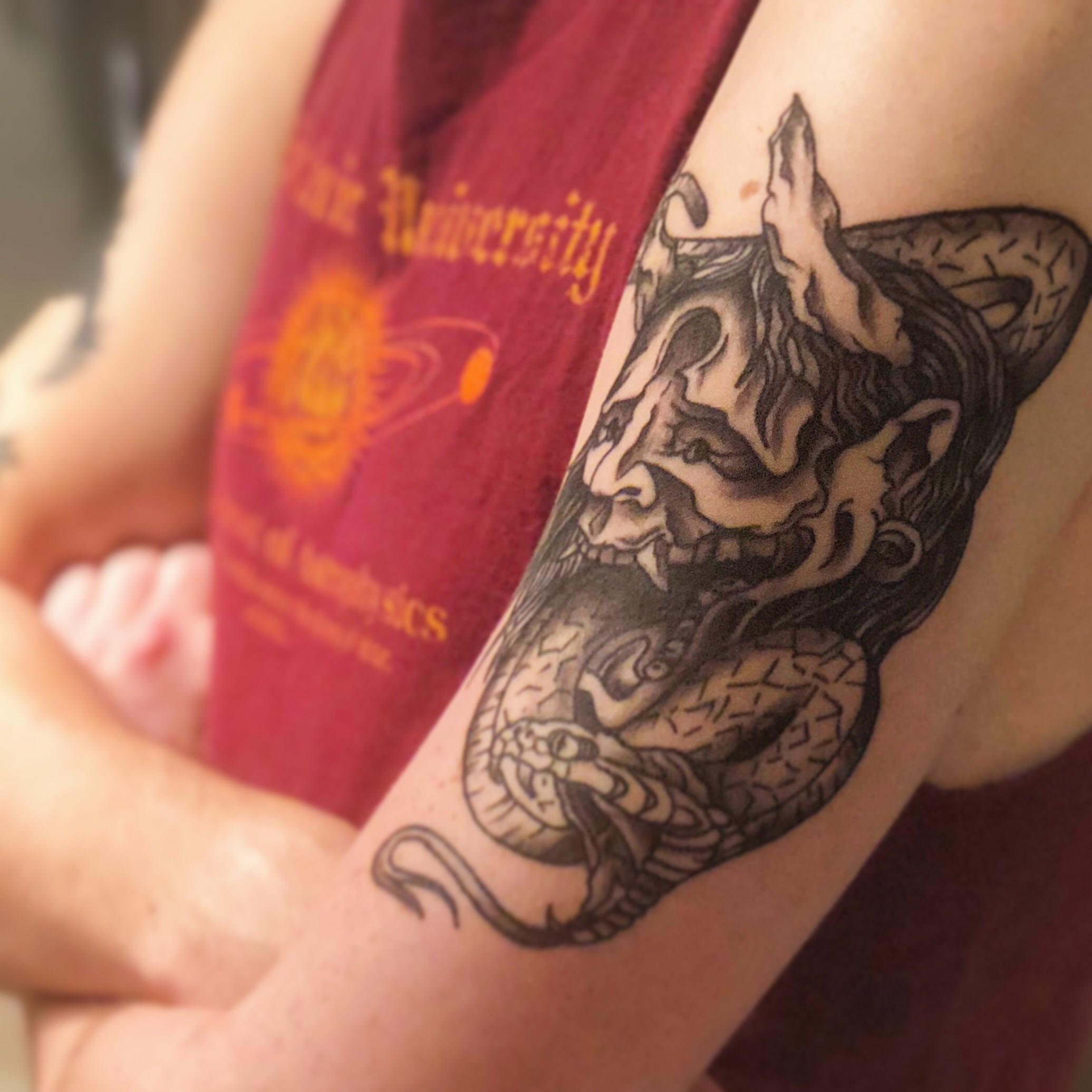 best oni mask tattoo